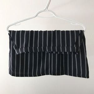Forever 21 Dark Navy Stripped Mini Skirt
